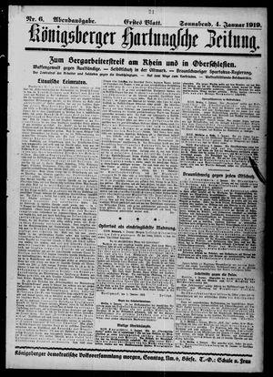 Königsberger Hartungsche Zeitung vom 04.01.1919