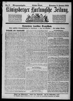 Königsberger Hartungsche Zeitung vom 05.01.1919