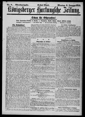 Königsberger Hartungsche Zeitung vom 06.01.1919