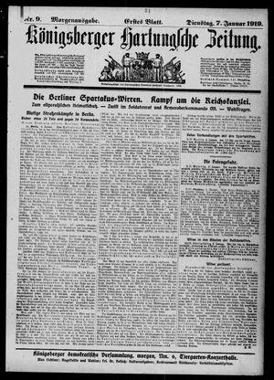 Königsberger Hartungsche Zeitung vom 07.01.1919