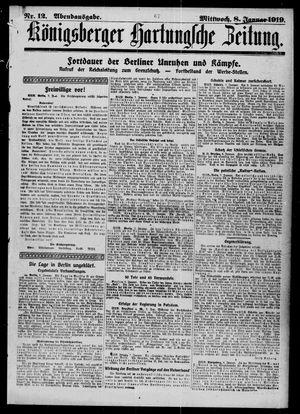 Königsberger Hartungsche Zeitung vom 08.01.1919