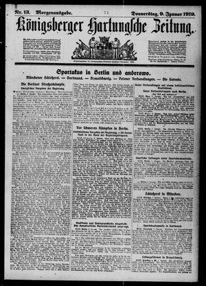 Königsberger Hartungsche Zeitung vom 09.01.1919