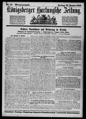 Königsberger Hartungsche Zeitung vom 10.01.1919