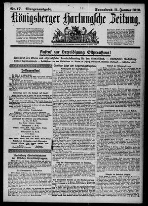 Königsberger Hartungsche Zeitung vom 11.01.1919