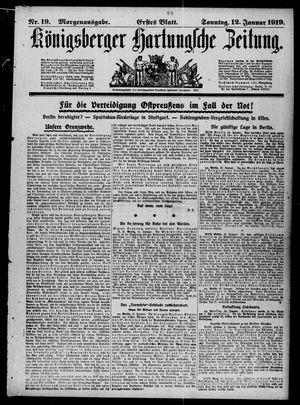Königsberger Hartungsche Zeitung vom 12.01.1919