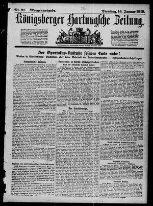 Königsberger Hartungsche Zeitung vom 14.01.1919