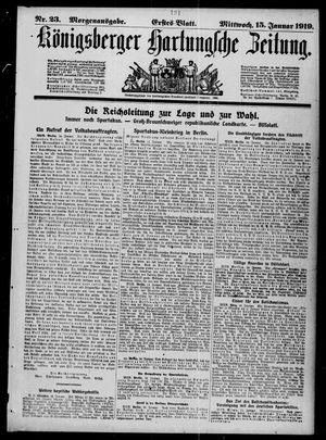 Königsberger Hartungsche Zeitung vom 15.01.1919