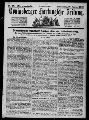Königsberger Hartungsche Zeitung vom 16.01.1919