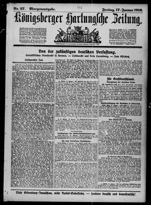 Königsberger Hartungsche Zeitung vom 17.01.1919