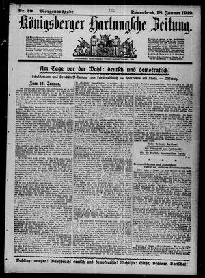 Königsberger Hartungsche Zeitung vom 18.01.1919