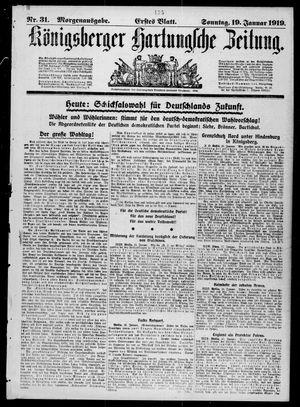 Königsberger Hartungsche Zeitung vom 19.01.1919