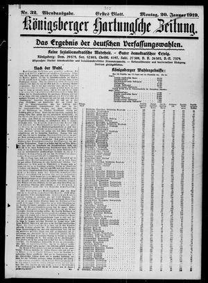 Königsberger Hartungsche Zeitung vom 20.01.1919