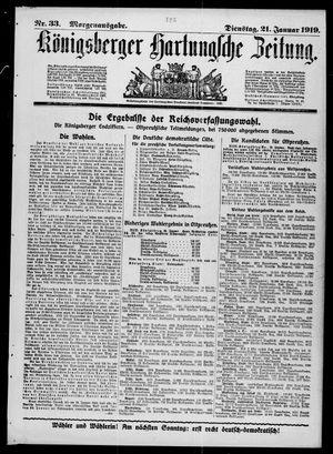 Königsberger Hartungsche Zeitung vom 21.01.1919