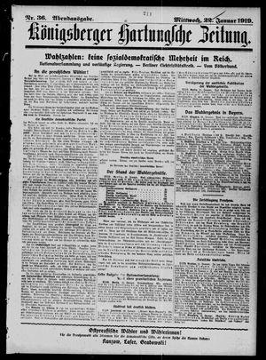 Königsberger Hartungsche Zeitung vom 22.01.1919