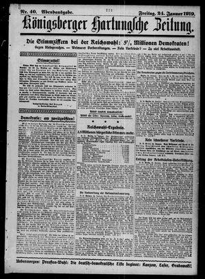 Königsberger Hartungsche Zeitung vom 24.01.1919