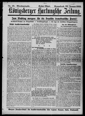 Königsberger Hartungsche Zeitung vom 25.01.1919