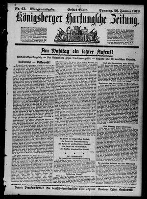 Königsberger Hartungsche Zeitung vom 26.01.1919
