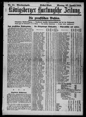 Königsberger Hartungsche Zeitung vom 27.01.1919