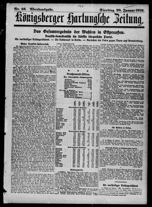 Königsberger Hartungsche Zeitung vom 28.01.1919