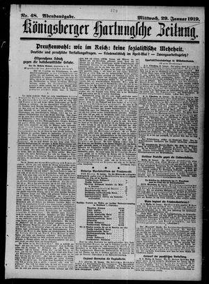 Königsberger Hartungsche Zeitung vom 29.01.1919