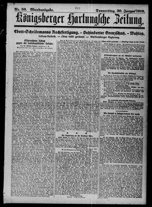 Königsberger Hartungsche Zeitung vom 30.01.1919