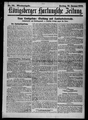 Königsberger Hartungsche Zeitung vom 31.01.1919