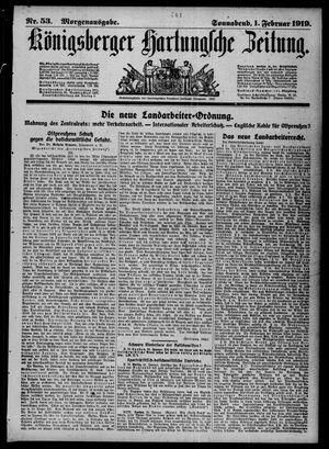 Königsberger Hartungsche Zeitung vom 01.02.1919