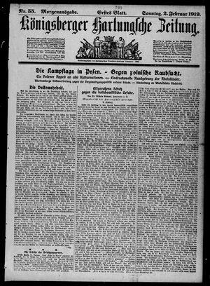 Königsberger Hartungsche Zeitung vom 02.02.1919