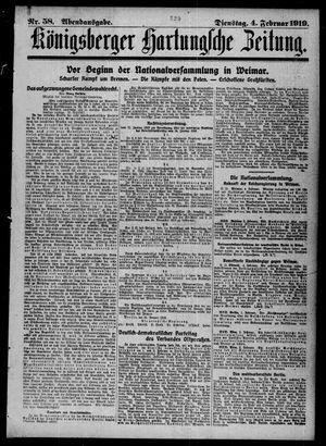 Königsberger Hartungsche Zeitung vom 04.02.1919