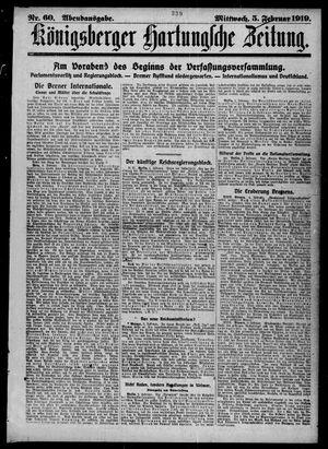 Königsberger Hartungsche Zeitung vom 05.02.1919