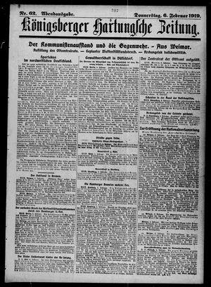 Königsberger Hartungsche Zeitung vom 06.02.1919