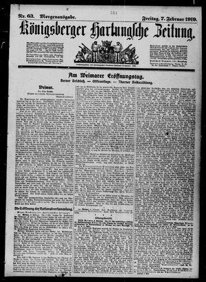 Königsberger Hartungsche Zeitung vom 07.02.1919