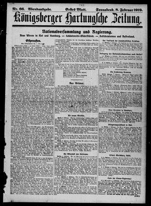 Königsberger Hartungsche Zeitung vom 08.02.1919
