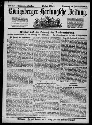 Königsberger Hartungsche Zeitung vom 09.02.1919