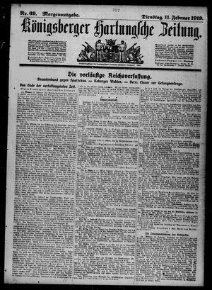 Königsberger Hartungsche Zeitung vom 11.02.1919