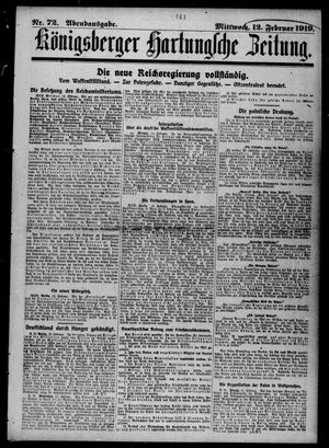 Königsberger Hartungsche Zeitung vom 12.02.1919