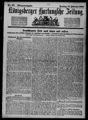 Königsberger Hartungsche Zeitung vom 14.02.1919