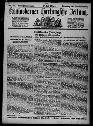 Königsberger Hartungsche Zeitung vom 16.02.1919