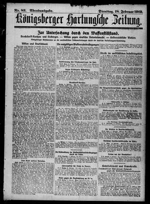Königsberger Hartungsche Zeitung vom 18.02.1919