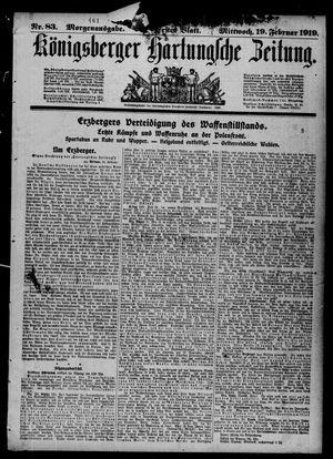 Königsberger Hartungsche Zeitung vom 19.02.1919