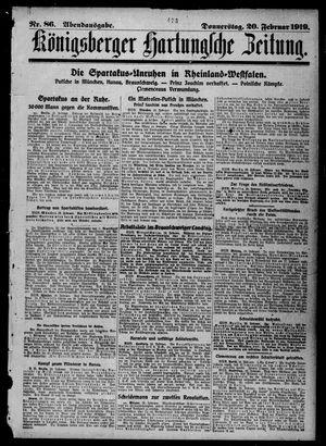 Königsberger Hartungsche Zeitung vom 20.02.1919