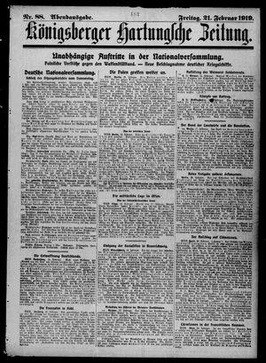 Königsberger Hartungsche Zeitung vom 21.02.1919