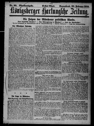 Königsberger Hartungsche Zeitung vom 22.02.1919