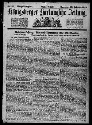 Königsberger Hartungsche Zeitung vom 23.02.1919