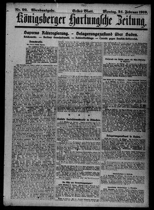 Königsberger Hartungsche Zeitung vom 24.02.1919