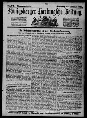Königsberger Hartungsche Zeitung vom 25.02.1919