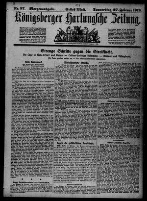 Königsberger Hartungsche Zeitung vom 27.02.1919