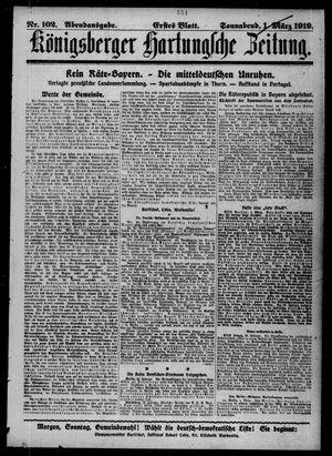 Königsberger Hartungsche Zeitung vom 01.03.1919