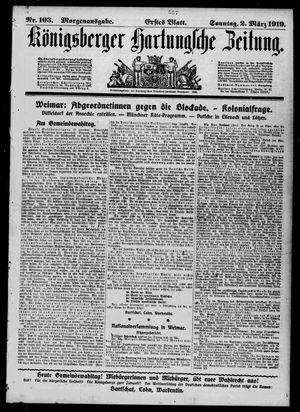 Königsberger Hartungsche Zeitung vom 02.03.1919