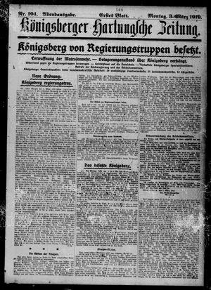 Königsberger Hartungsche Zeitung vom 03.03.1919